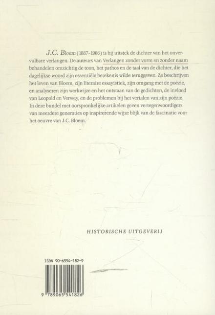 Verlangen zonder vorm en zonder naam : over J.C. Bloem