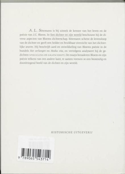 Een dichter en zijn wereld : over J.C. Bloem