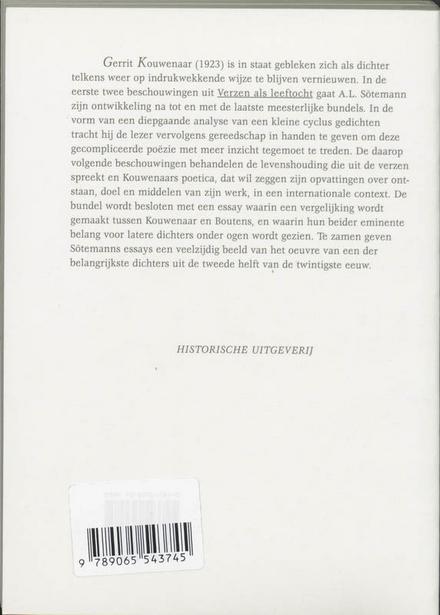 Verzen als leeftocht : over Gerrit Kouwenaar