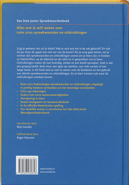 Van Dale junior spreekwoordenboek : wat betekenen onze spreekwoorden?