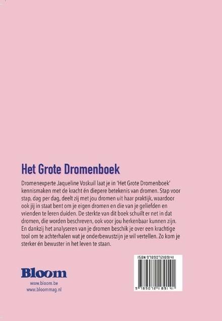 Het grote dromenboek : ontdek gedurende één jaar de diepere betekenis van je dromen : 365 dromen-365 antwoorden