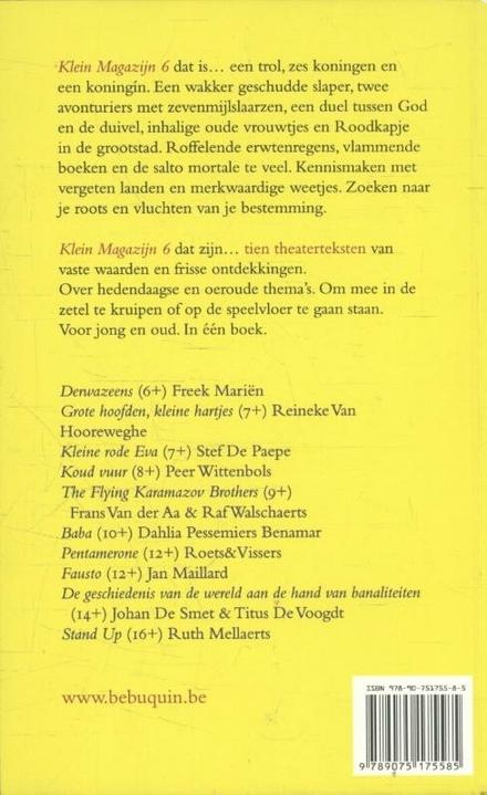 Klein magazijn : teksten voor jeugdtheater. 6