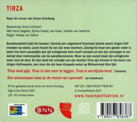 Tirza : audiofilm : naar de roman van Arnon Grunberg