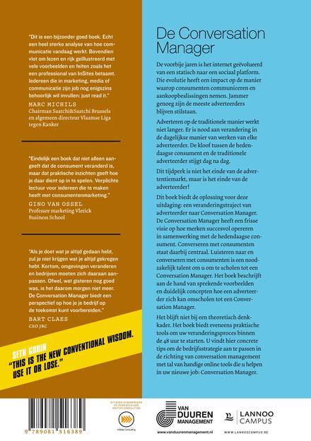 De conversation manager : de kracht van de hedendaagse consument : het einde van de traditionele adverteerder