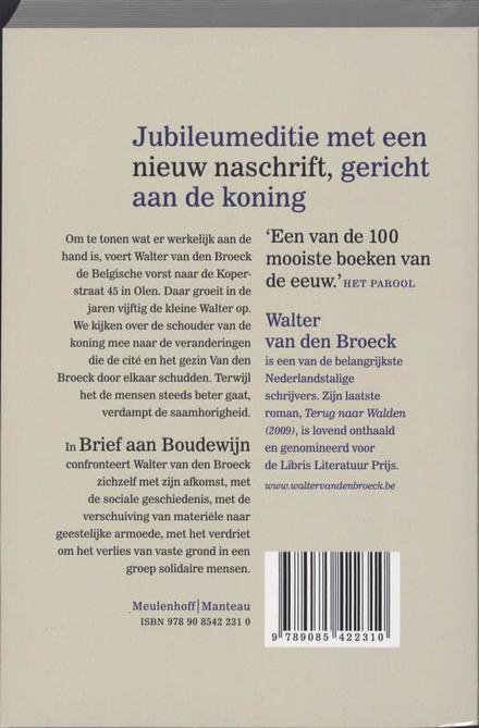 Brief aan Boudewijn : met tussentijds rapport als bijlage : roman
