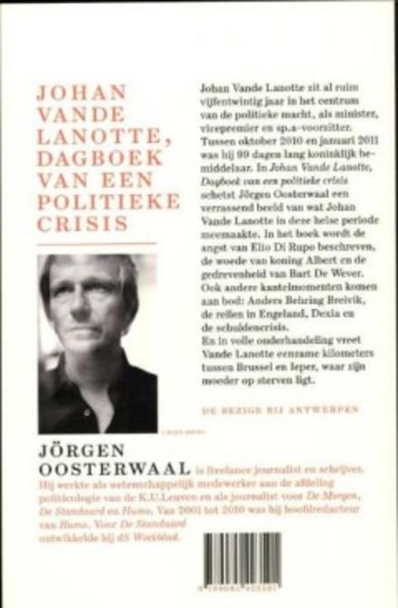 Johan Vande Lanotte, dagboek van een politieke crisis