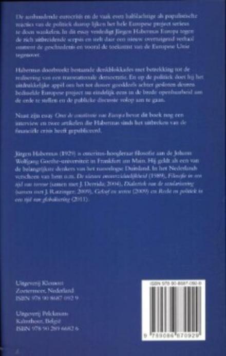 Over de constitutie van Europa : een essay