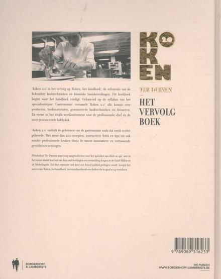 Koken 2.0 : het vervolgboek Ter Duinen : technieken, recepten, dresseren