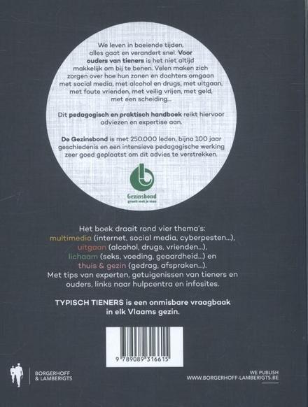 Typisch tieners : modern opvoedingshandboek voor ouders over internetgebruik, uitgaan, seks, gedrag...