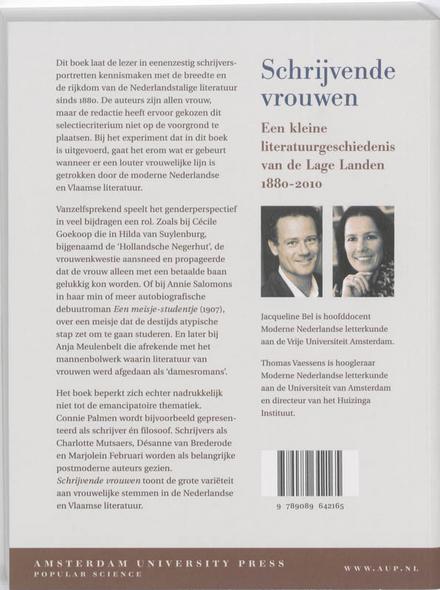 Schrijvende vrouwen : een kleine literatuurgeschiedenis van de Lage Landen 1880-2010