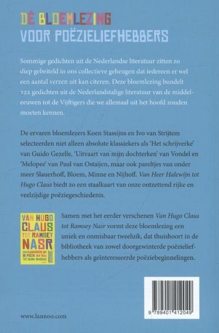 Van Heer Halewijn tot Hugo Claus : 222 klassiekers van de middeleeuwen tot de Vijftigers