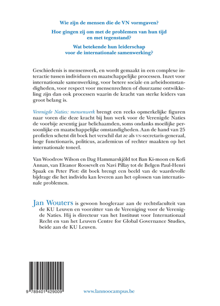 Verenigde Naties: mensenwerk : 25 markante leiders