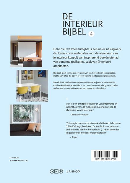 De interieurbijbel : hét antwoord op al je vragen over eigentijdse materialen, met pro's en contra's. 4