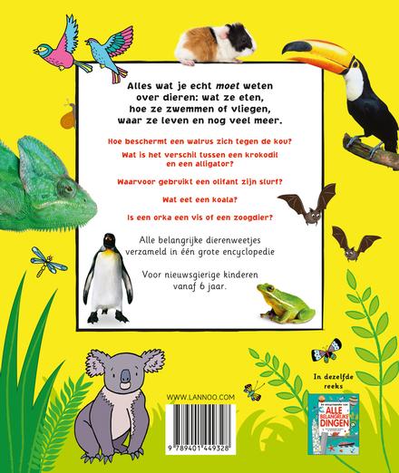 De belangrijke encyclopedie van alle dieren