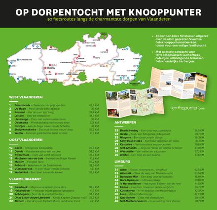 De mooiste dorpen van Vlaanderen : 40 fietsroutes langs de charmanste dorpen