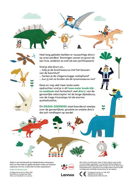 Zigzag dinosaurussen : wel 2 meter breed!