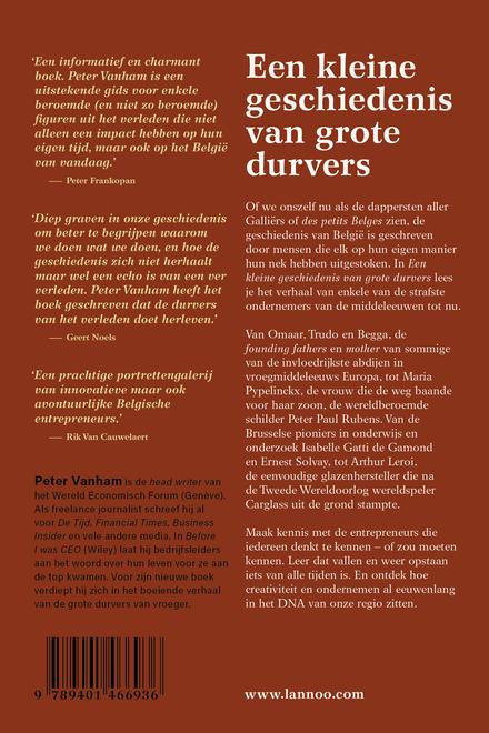 Een kleine geschiedenis van grote durvers : buitengewone Belgische ondernemers van de middeleeuwen tot nu