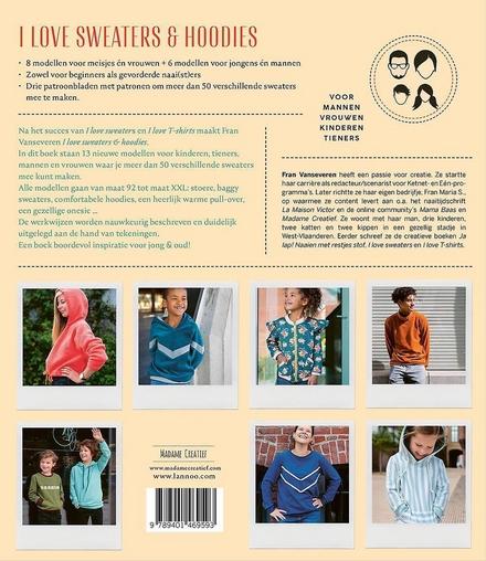 I love sweaters & hoodies : 13 modellen om zelf te naaien van maat 92 tot XXL