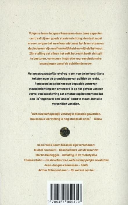 Het maatschappelijk verdrag, of Beginselen der staatsinrichting