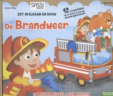 De brandweer : reuzenpuzzel & boekje