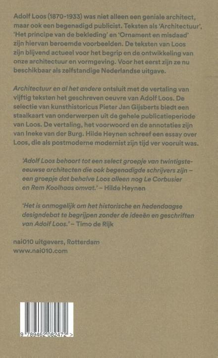 Architectuur en al het andere : Adolf Loos