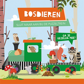 Bosdieren : boek + treinpuzzel
