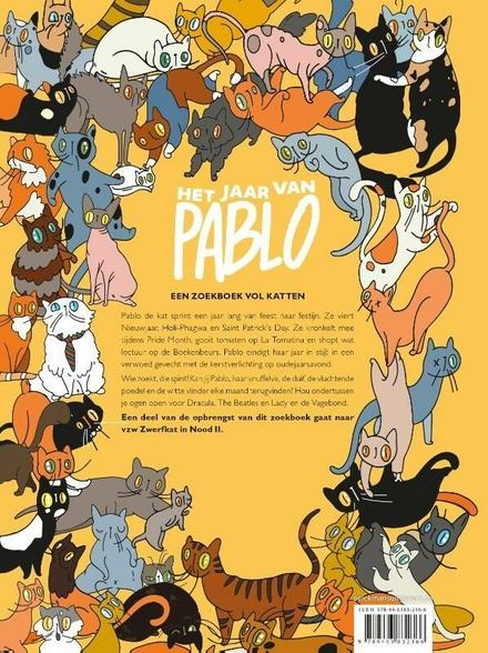 Het jaar van Pablo : een zoekboek vol katten
