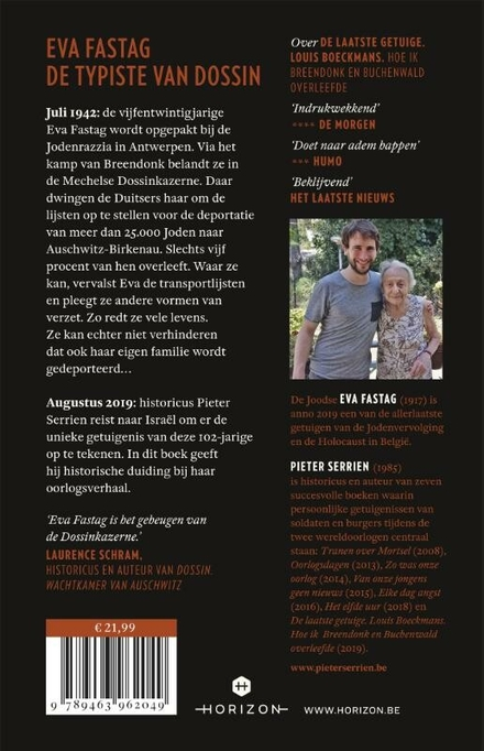 De laatste getuige : hoe ik de Dossin Kazerne en de Holocaust overleefde
