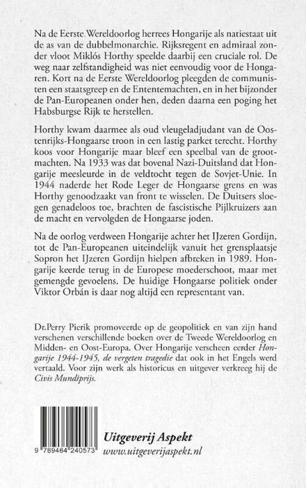 Horthy en de strijd om de Hongaarse Natiestaat