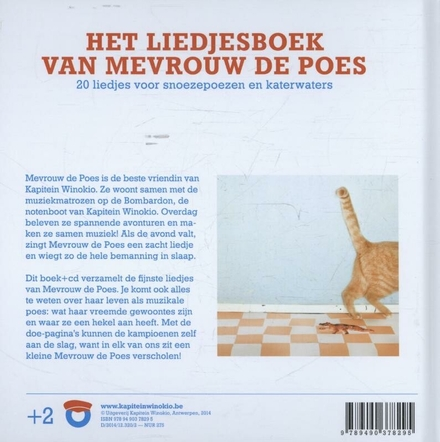 Het liedjesboek van mevrouw de poes : 20 liedjes voor snoezepoezen en katerwaters
